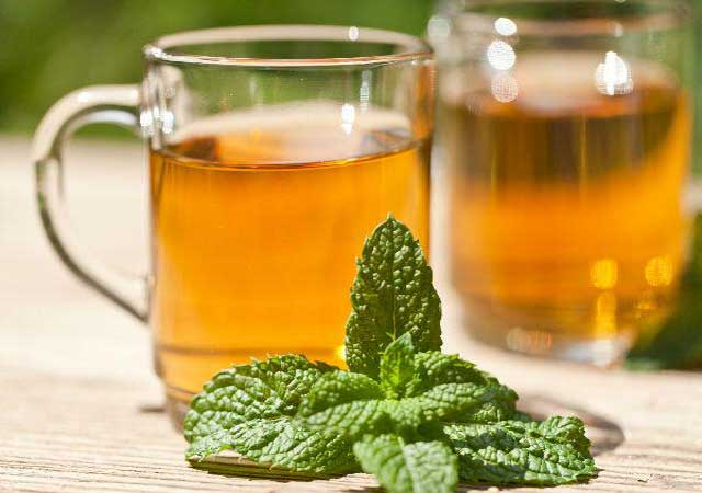 peppermint tea to trat allergies