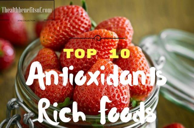 antioxidants rich foods