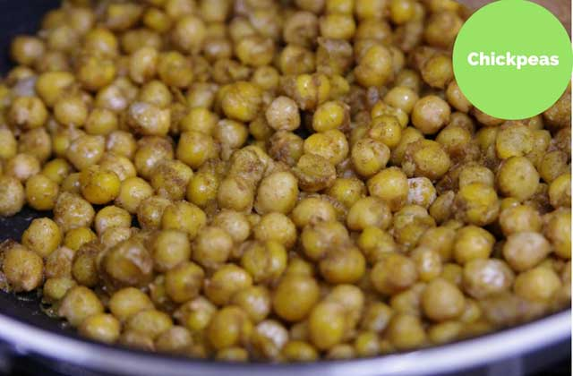 chickpeas highest in iron