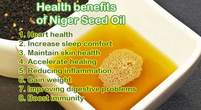 Health benefits of niger seed oil