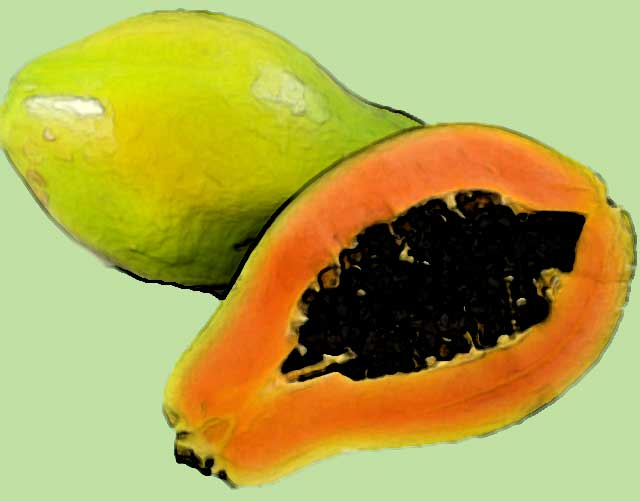 foods rich in vitamin c is papaya