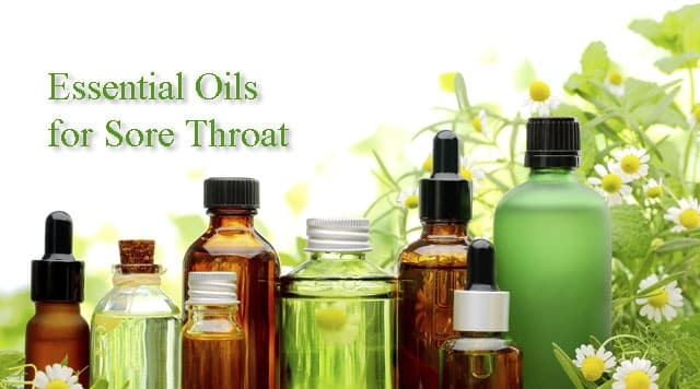essential oils for sore throat