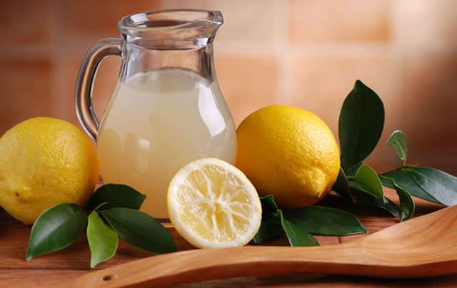 egg white with lemon juice to firm skin