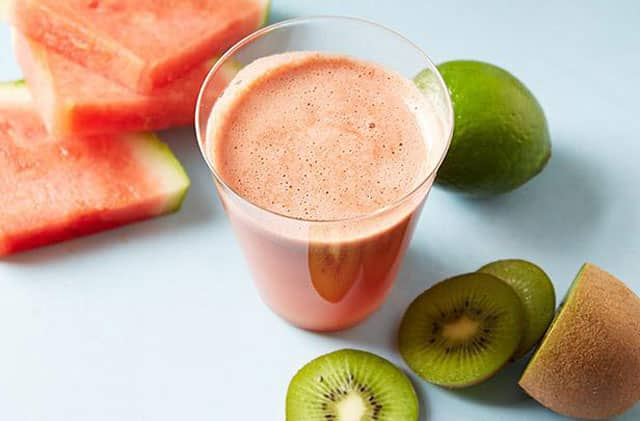 Kiwi watermelon juice healthy drinks