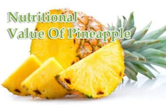 Nutritional Value Of Pineapple