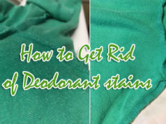 How To Get Rid Of Deodorant Stains